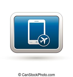 Phone with in plane mode icon