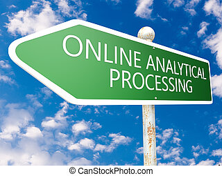 Online Analytical Processing - street sign illustration in...