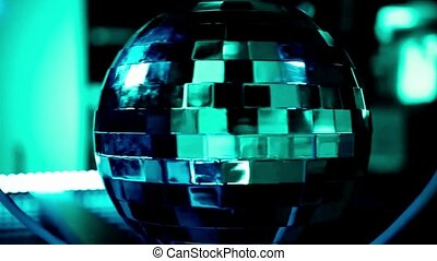 Abstract blue background with disco ball HD 1920x1080