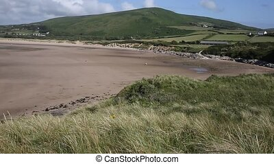Wales coast path Broughton Bay the Gower peninsula South...