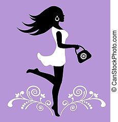 elegant female silhouette