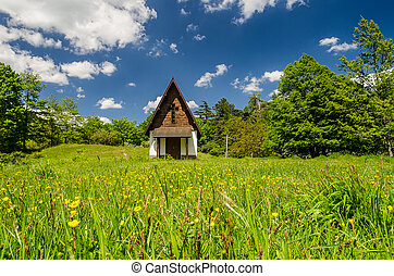 small church in the natural  park