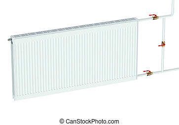 eco radiator isolated on white background