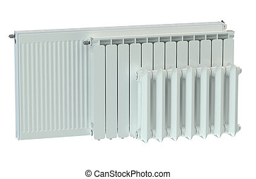 heating radiators isolated on white background