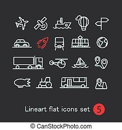 Different modern media web application icons collection...