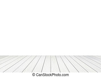 white wood floor on a white background