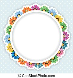 Frame of colorful flowers