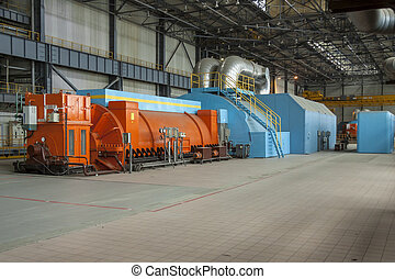 Steam turbine - coal power station.
