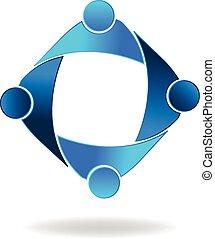 Teamwork business people logo - Vector Teamwork business...