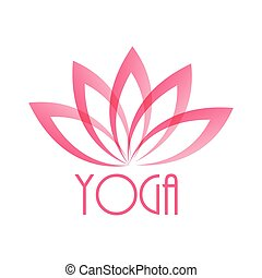 Lotus Flower Sign for Wellness, Spa and Yoga. Vector...