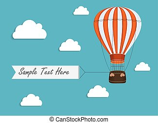 Air Balloon Background with Place for Your Text Vector Illustration