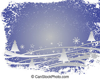 winter scene - christmas card