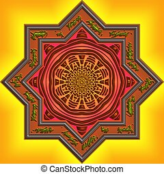 Mandala Eastern abstract design geometric pattern