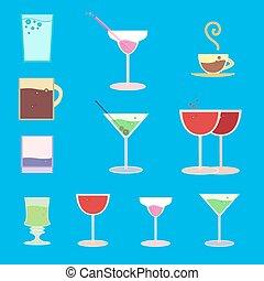 Vector set for bar regiment - Vector set of goblets, cups,...