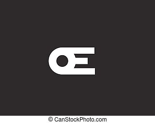 Minimalistic logo design template, letter E. Creative logotype for your company. Vector business element.