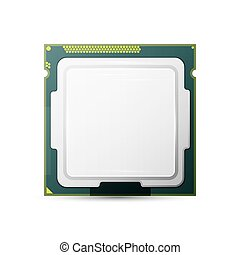 Processor. Computer Hardware. Isolated on white, excellent...