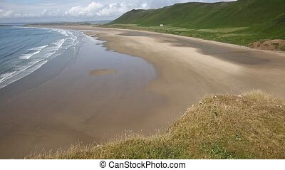 Rhossili beach The Gower PAN - Rhossili beach The Gower...