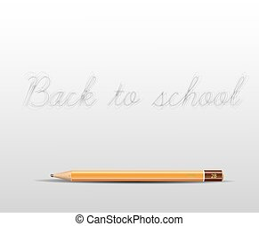 Back to school poster with a pencil and space for your content