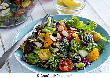 Organic Super Food Vegetarian Salad - Fresh organic super...