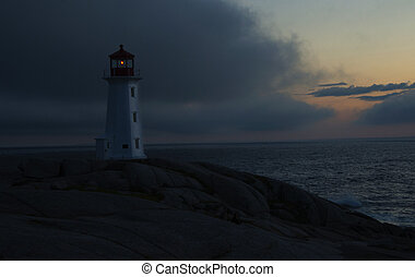 Peggys Cove Approaching Storm - Peggys Cove Lighthouse, Nova...