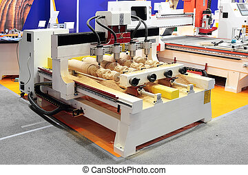 Working milling machine - CNC milling machine making 4...