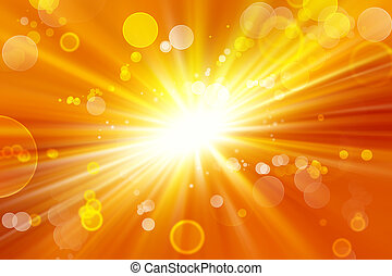 Explosive background - Bright explosion Circles on yellow...