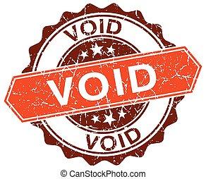 void orange round grunge stamp on white