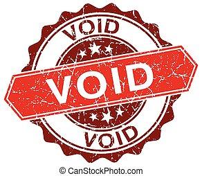 void red round grunge stamp on white