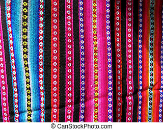 South America Indian woven fabrics colorful background