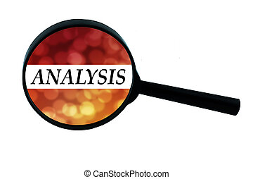 Word analysis - Word analysis on the magnifying glass with...
