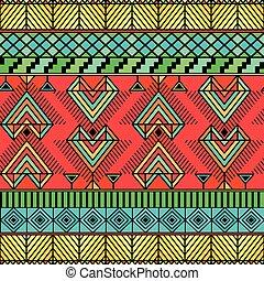 Bright ethno pattern - Bright pattern in enicheskom style...