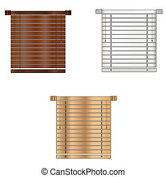 Color Venetian blind Vector illustration. EPS 10