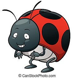 Lady bug - Vector illustration of cartoon Lady bug