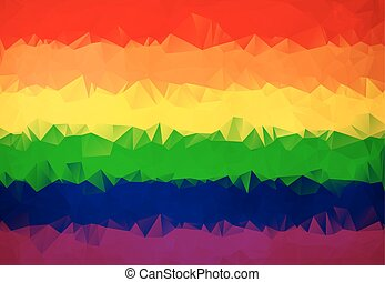 Abstract Rainbow flag polygon