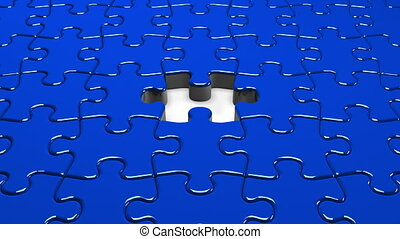 Blue Jigsaw Puzzle.