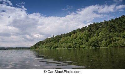 clouds - Tom River in Western Siberia