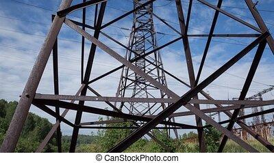 Power line - power line against the blue sky