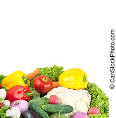 Vegetables - Assorted fresh vegetables isolated on white...