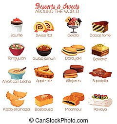 Dessert and Sweets Icons - A vector illustration of dessert...