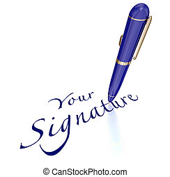 Your Signature Pen Signing Name Autograph - Your Signature...