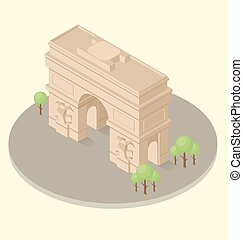 Vector 3d Flat Isometric Monument - Vector 3d flat isometric...