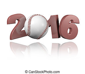 Baseball 2016 design with a white Background
