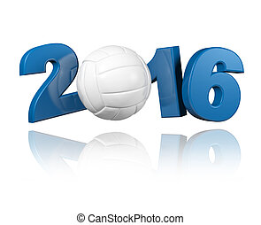 Volleyball 2016 design with a White Background