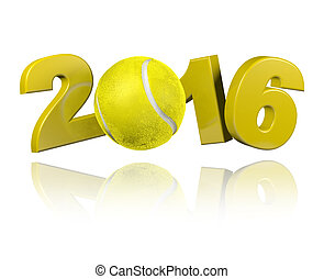 Tennis 2016 design with a White Background