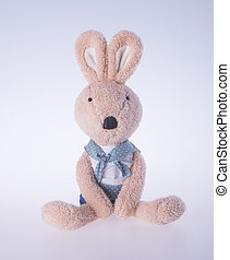 rabbit or bunny toy on a background - rabbit or bunny toy on...