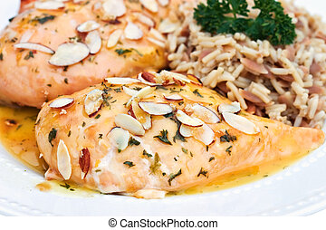 Orange Glazed Chicken - Orange glazed chicken served with...