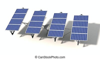 Mobile solar panel isolated - Mobile solar panel with a...