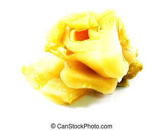 pickled mustard leaf in brine