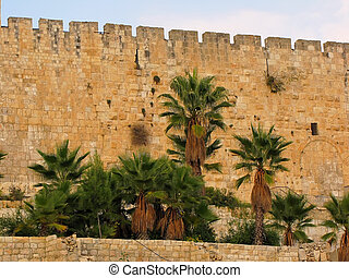 Jerusalem, the old city walls - Israel, Jerusalem, the old...