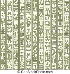 Ancient Egyptian hieroglyphic decorative background.